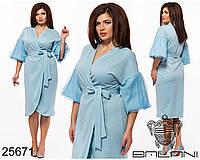 Платье вечернее на запах из трикотажа с люрексом с 42 по 56 размер, фото 1