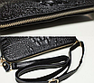 Женский клатч сумка Натуральная Кожа крокодилий принт Бежевый, фото 4