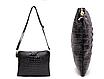 Женский клатч сумка Натуральная Кожа крокодилий принт Бежевый, фото 3