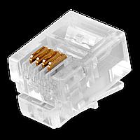 Коннектор LogicPower RJ12-6P4С 100 шт.