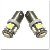 Автомобильные светодиодные лампы iDial. Светодиодная лампа повышенной мощности 459 T4 BA9s 5leds 5050SMD