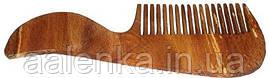 Расческа деревянная  с ручкой, с густыми зубцами
