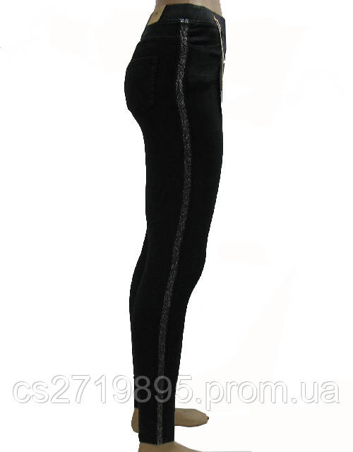 Легинсы женские ЛАСТОЧКА 657-7 брюки лампасы ДЖИНСЫ
