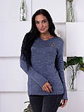 Женский молодежный свитер джинсового цвета 1831, фото 2