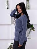 Женский молодежный свитер джинсового цвета 1831, фото 3