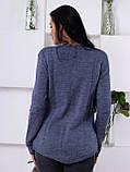 Женский молодежный свитер джинсового цвета 1831, фото 4