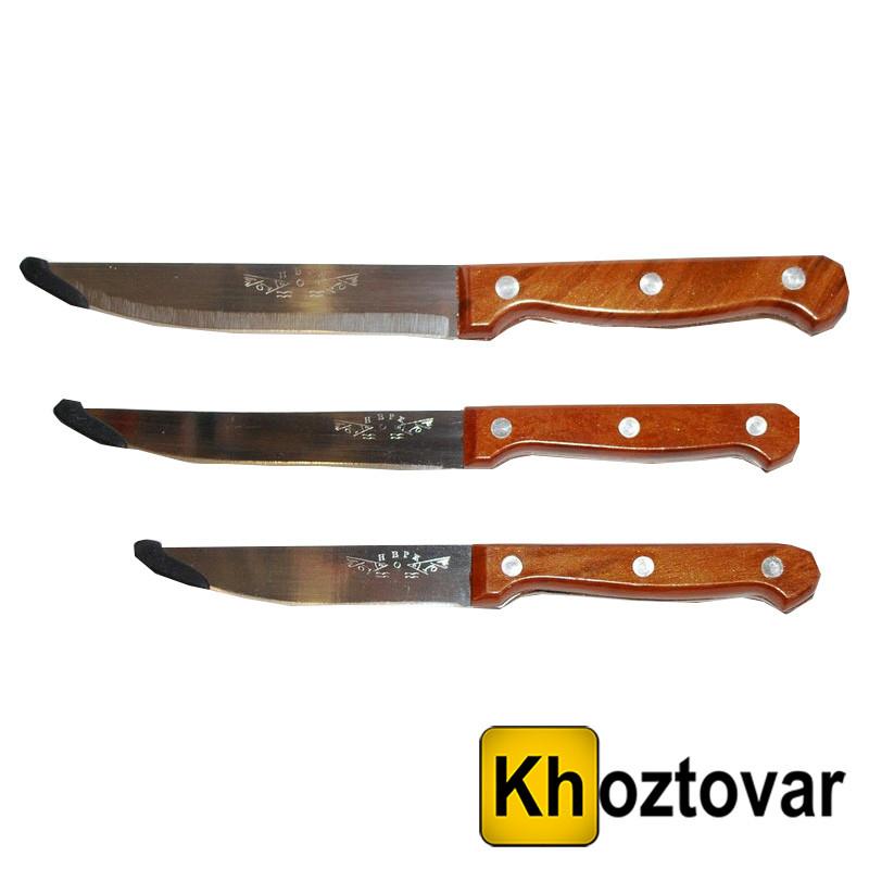 """Нож кухонный """"РЫБКА"""" №6, коричневый, плас. ручка, большой, 300мм"""