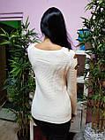 Джемпер белого цвета с прорезями 225, фото 4