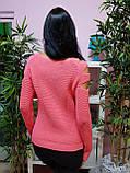 Джемпер персикового цвета с прорезями 227, фото 3