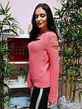 Джемпер персикового цвета с прорезями 227, фото 4