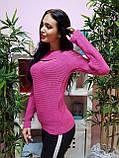 Джемпер темно-розового цвета с прорезями 228, фото 3