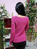 Джемпер темно-розового цвета с прорезями 228, фото 4