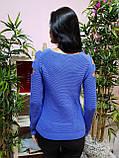 Джемпер лавандового цвета с прорезями 229, фото 4