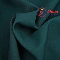 Креп костюмка ( барби ) темно-зелный