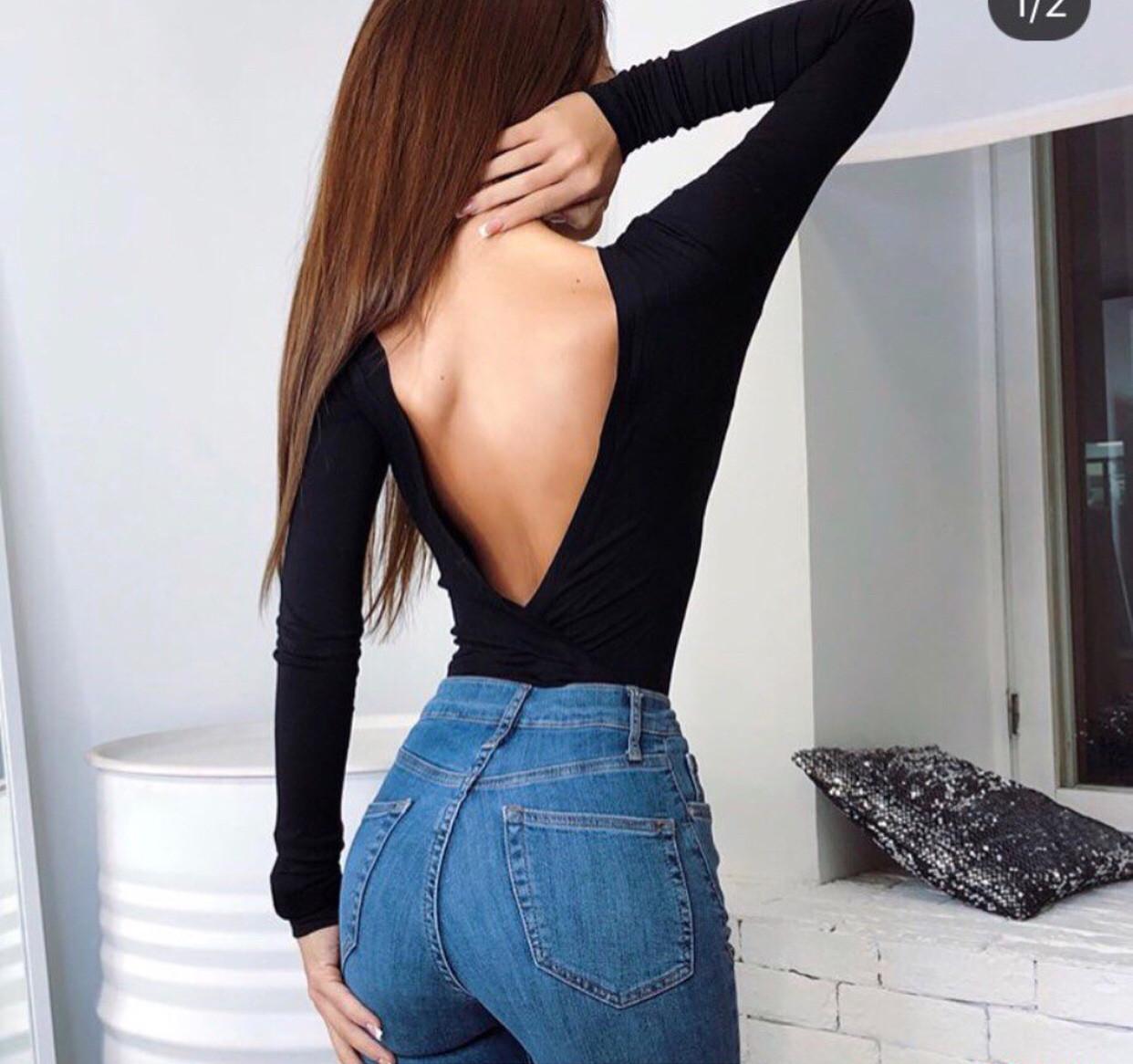 Боди с открытой спиной