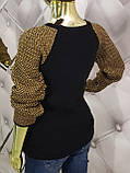 Свитер черного цвета декорированный жемчугом 939, фото 2