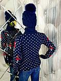 Женский вязаный трехцветный свитер 908, фото 3