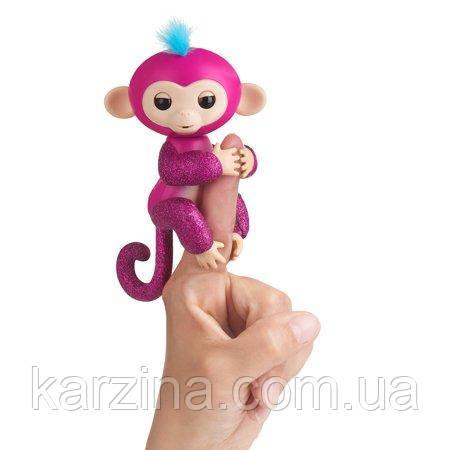 Блестящая обезьянка Fingerlings Glitter Ruzz  100% Оригинал WowWee (с одеялком)