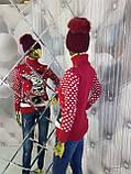 Теплый красный свитер с орнаментом Минни Маус 928, фото 2