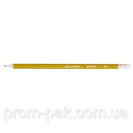 Карандаши простые ВM 8500 НВ с резинкой, фото 2