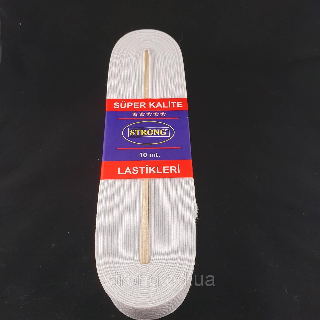 Резинка STRONG 1,5см Белая