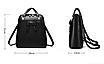 Рюкзак женский кожзам городской с бантиком Черный, фото 5