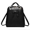 Рюкзак женский кожзам городской с бантиком Черный, фото 2