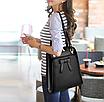 Рюкзак женский кожзам городской с бантиком Черный, фото 3