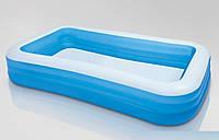 Надувной детский бассейн, Intex прямоугольный