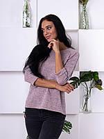 Трикотажная кофта с лампасом цвета розовый меланж 222
