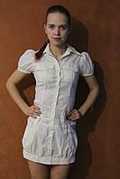 Летний сарафан на пуговках с рукавом на стройную девушку, р.42
