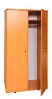 Шкаф для одежды 2-дверный с овальной штангой (0637)
