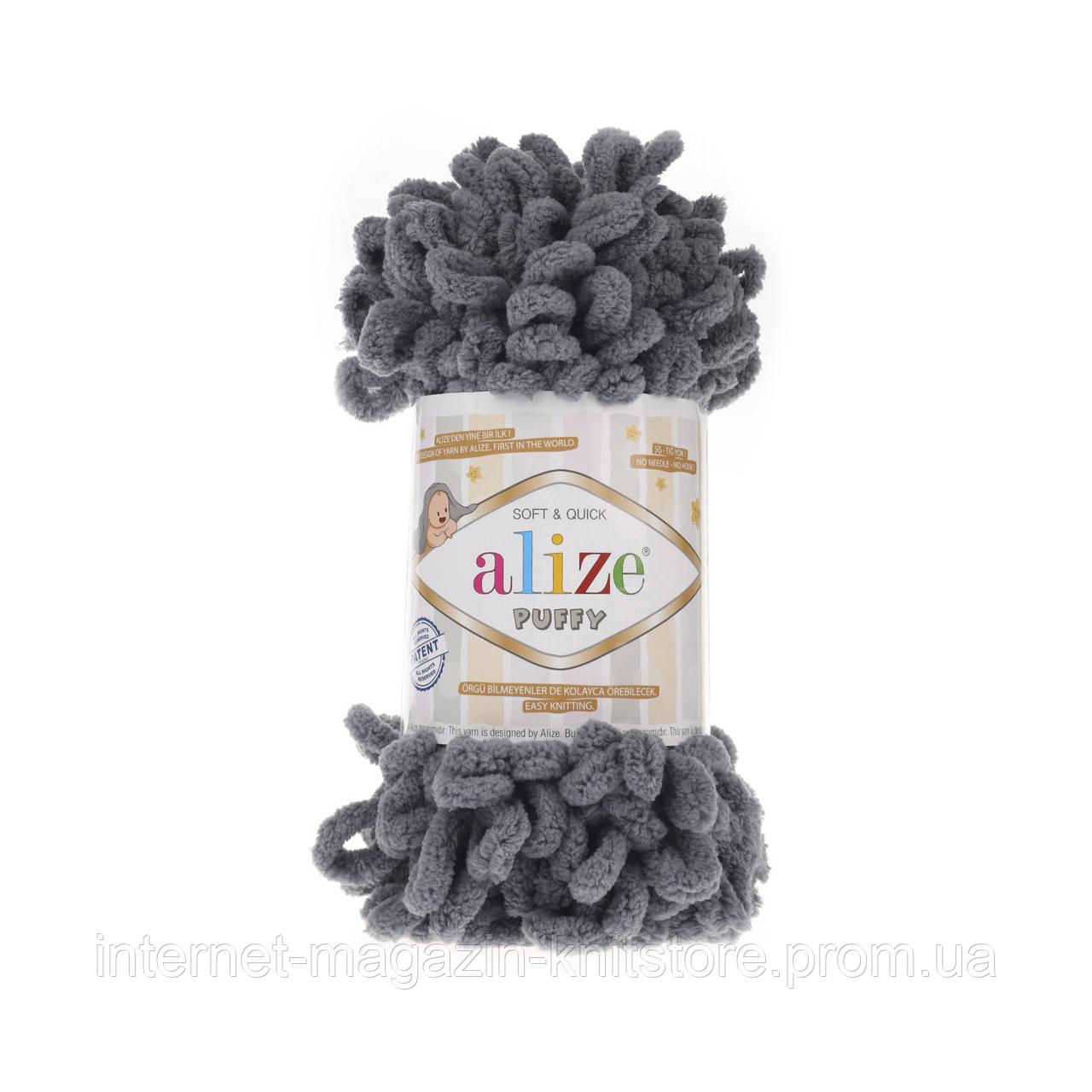 Пряжа Alize Puffy Серый