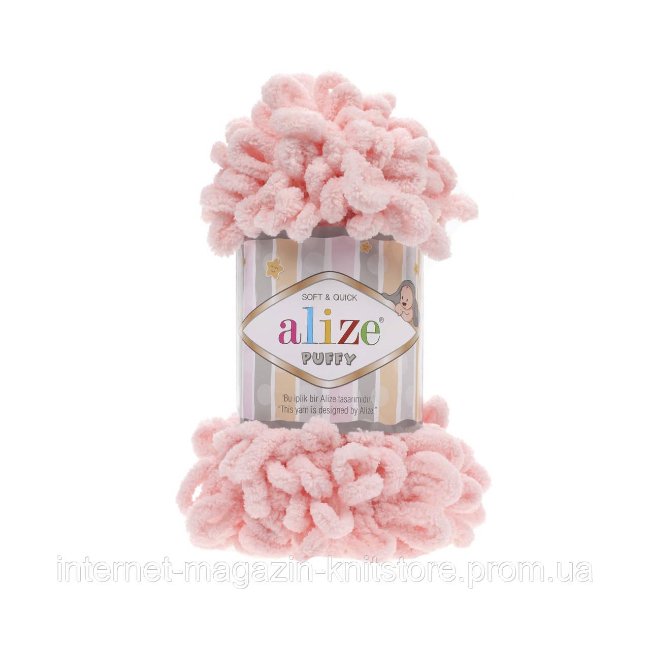 Пряжа Alize Puffy рожевий