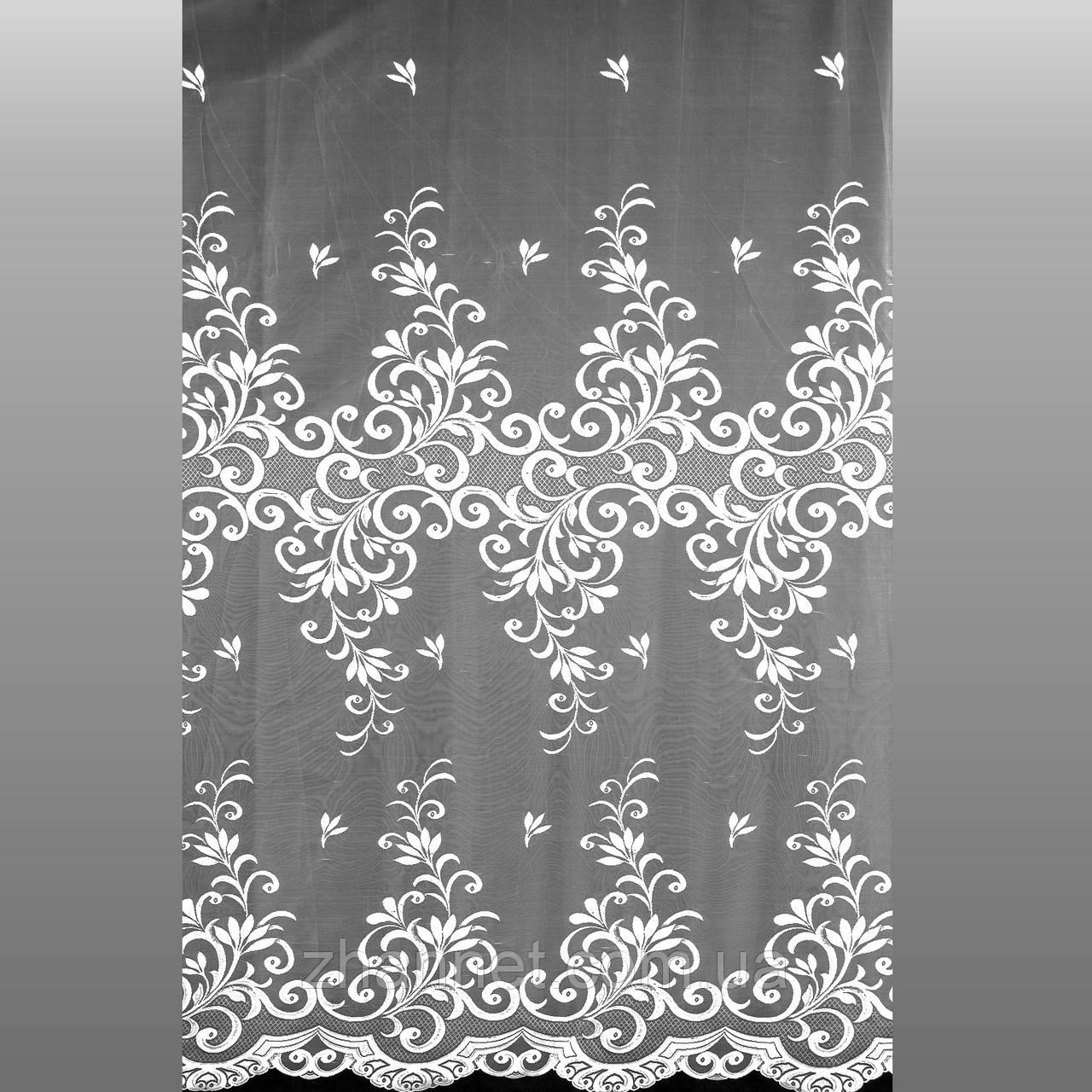 Тюль гипюр Давиния белый 280 см (38109)