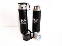 Термос H2O 500 мл с чашкой Вакуумный термос, , Термос для горячего и холодного, фото 1