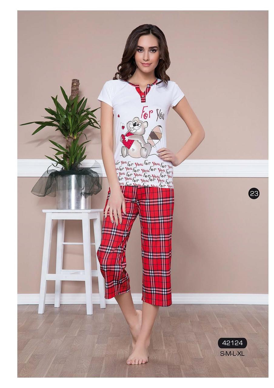 d05154d6e224 Женская пижама, домашний костюм футболка и капри/бриджи Moyra Caprice  42124, цена 250 грн., купить в Харькове — Prom.ua (ID#75006195)