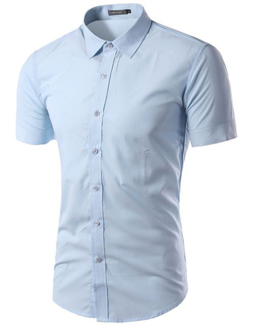 Классическая мужская тенниска с  коротким рукавом  «Classic» (голубая)