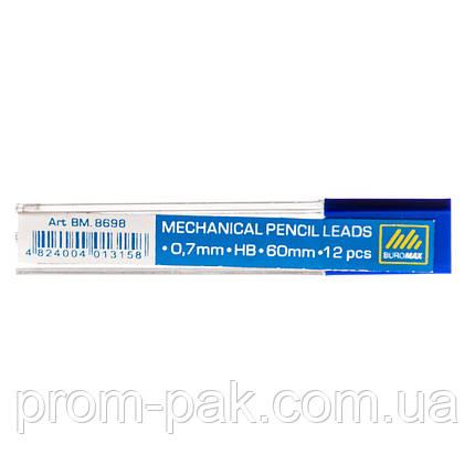 Грифель для механического карандаша  Buromax НВ 0,7 8698, фото 2