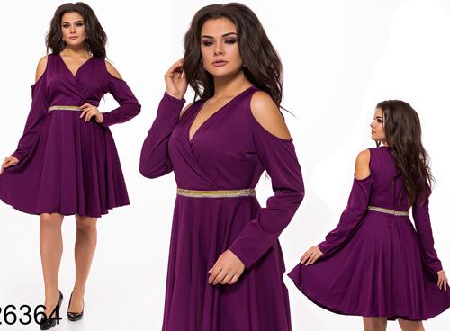 03e65288d84c Вечернее платье с открытыми плечами (фиолетовый) 826364 купить недорого  Украина ...