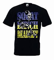 Футболка для пауэрлифтинга SQUOT- BENCH PRESS- DEAD LIFT, черная, размер S