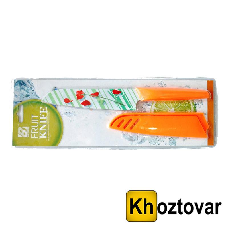 Нож кухонный в пластиковом чехле  метало керамика FRUIT KNIFE