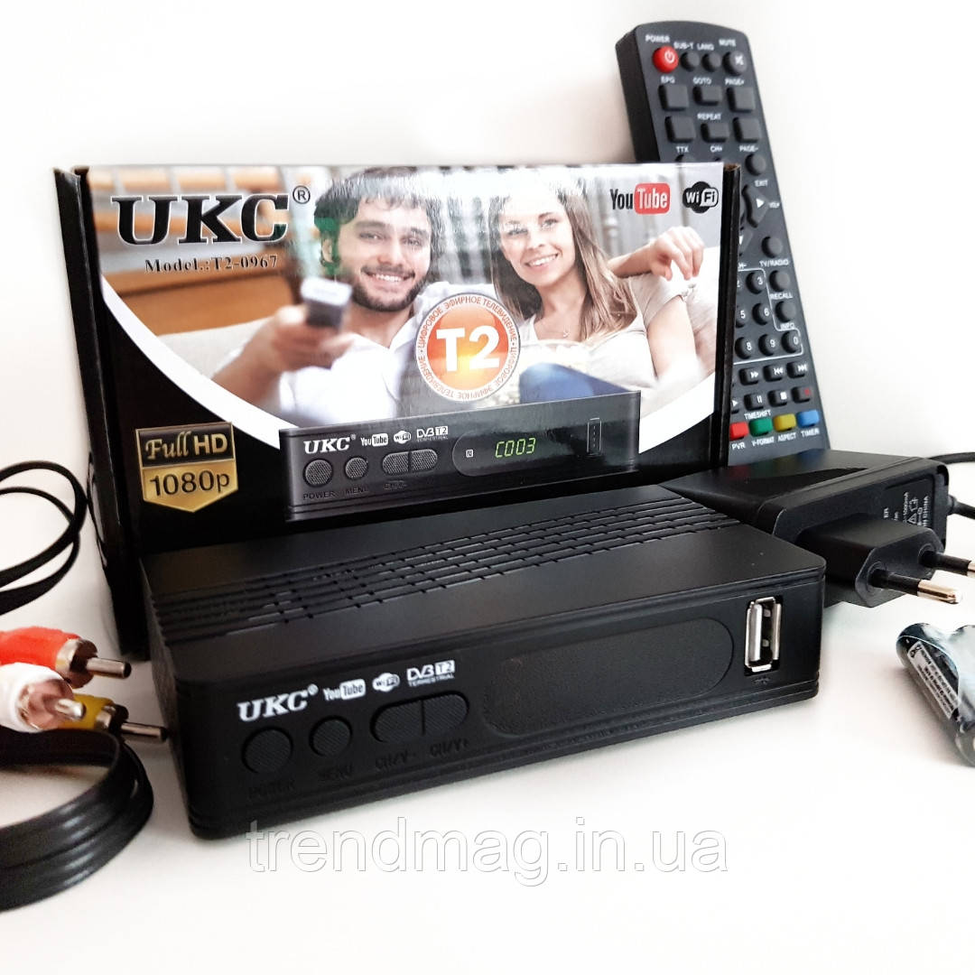 ТВ тюнер ресивер с поддержкой адаптера WiFi DVB-T2 UKC 0976