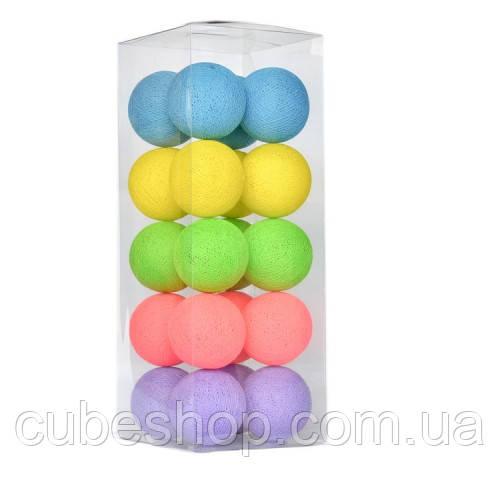 "Тайская LED-гирлянда ""Makarons"" (20 шариков) на батарейках"