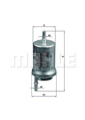 Фильтр топливный Knecht KL176/6D