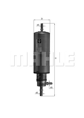 Фільтр паливний Knecht KL437