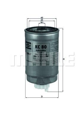 Фільтр паливний Knecht KC80