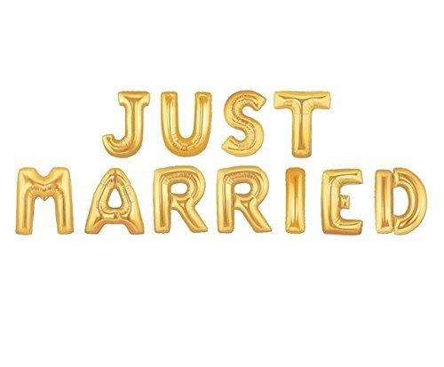 Гирлянда Just Married надувная золотые буквы