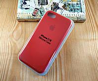 Оригинальный силиконовый чехол для Apple iPhone 7 / 8 Soft Touch красный