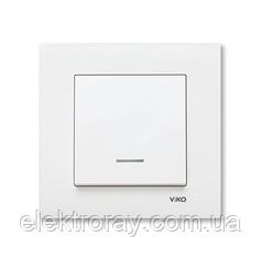 Выключатель с подсветкой белый Viko Karre